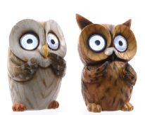 Lumineo LED Solar Owls - 13.5cm